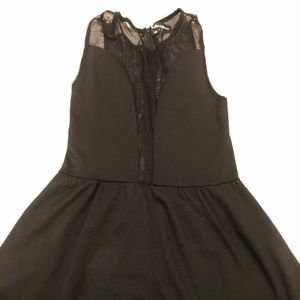 For Love of Lemons Black Sheer Dress - s